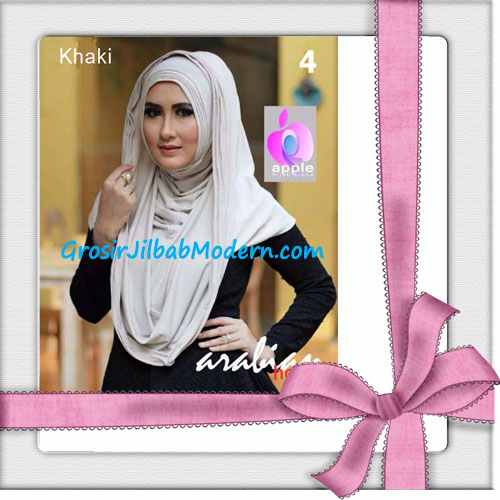 Jilbab Hoodie Instan Arabian Seri 2 by Apple Hijab Brand No 4 Khaki