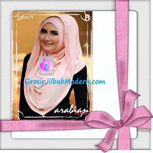 Jilbab Hoodie Instan Arabian Seri 2 by Apple Hijab Brand No 8 Peach