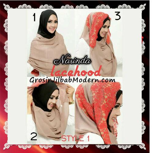 Jilbab Hoodie Instant Modern Trendy Lacy Hood Seri 2 Original By Narinda - Tutorial Style 1