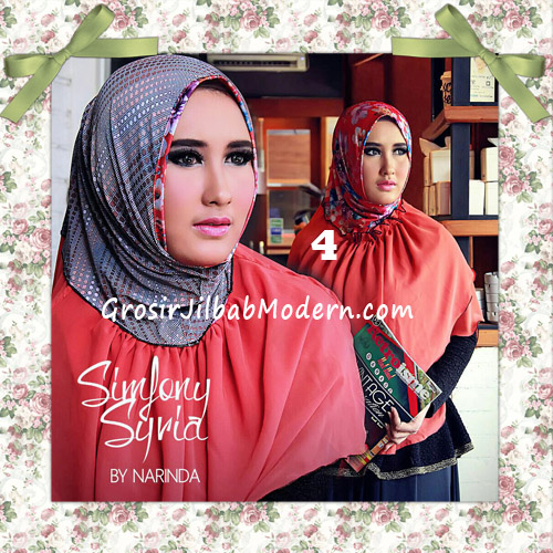 Jilbab Instant Cantik Simfony Syria Bolak Balik Original By Narinda No 4 Oren Bata