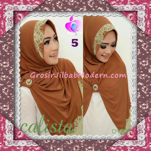 Jilbab Instant Modis Arzeti Calista Premium Original By Apple Hijab Brand No 5 Choco