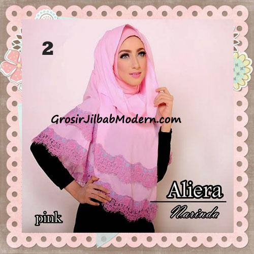 Jilbab Instant Modis Cantik Aliera Hoodie by Narinda No 2 Pink
