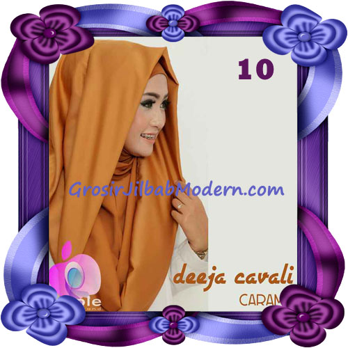 Jilbab Instant Modis Terbaru Deeja Cavali Hoodie Seri 2 Exclusive Original by Apple Hijab Brand No 10 Caramel