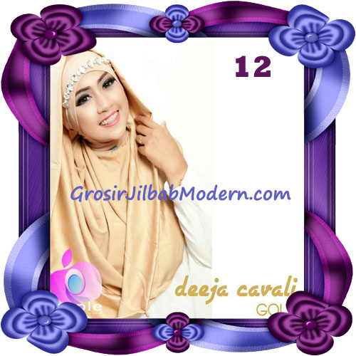Jilbab Instant Modis Terbaru Deeja Cavali Hoodie Seri 2 Exclusive Original by Apple Hijab Brand No 12 Gold