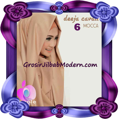 Jilbab Instant Modis Terbaru Deeja Cavali Hoodie Seri 2 Exclusive Original by Apple Hijab Brand No 6 Mocca