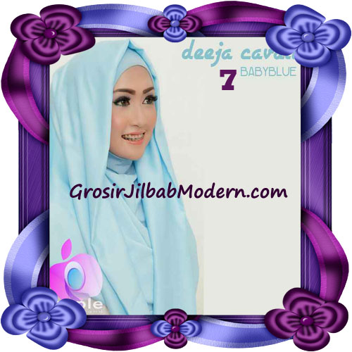 Jilbab Instant Modis Terbaru Deeja Cavali Hoodie Seri 2 Exclusive Original by Apple Hijab Brand No 7 Baby Blue