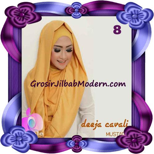 Jilbab Instant Modis Terbaru Deeja Cavali Hoodie Seri 2 Exclusive Original by Apple Hijab Brand No 8 Mustard