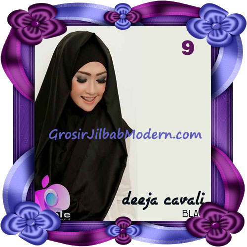 Jilbab Instant Modis Terbaru Deeja Cavali Hoodie Seri 2 Exclusive Original by Apple Hijab Brand No 9 Black