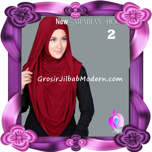 Jilbab Instant New Arabian Hoodie Simple dan Elegan By Apple Hijab Brand No 2 Maroon