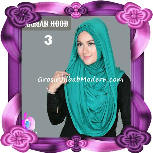 Jilbab Instant New Arabian Hoodie Simple dan Elegan By Apple Hijab Brand No 3 Green