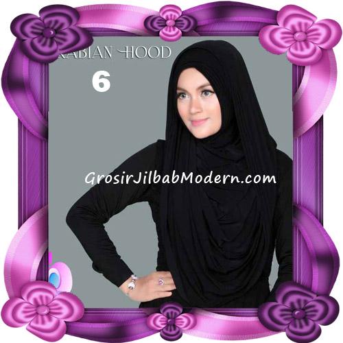 Jilbab Instant New Arabian Hoodie Simple dan Elegan By Apple Hijab Brand No 6 Black