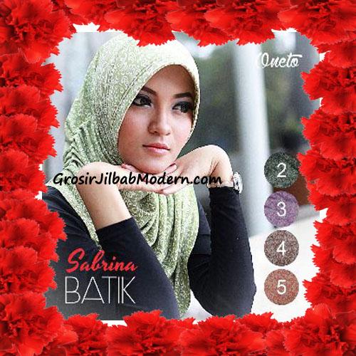 Jilbab Instant Pet Harian Cantik Sabrina Batik