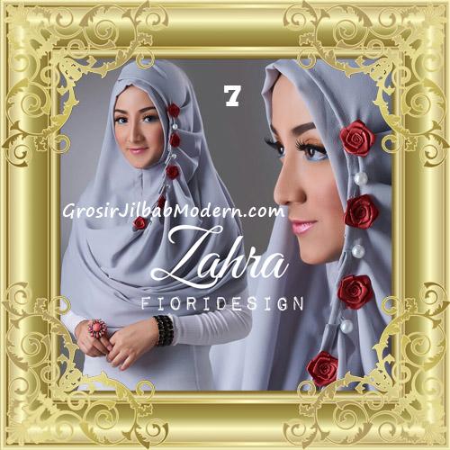 Jilbab Instant Syria Premium Zahra Terbaru By Fiori Design No 7 Abu