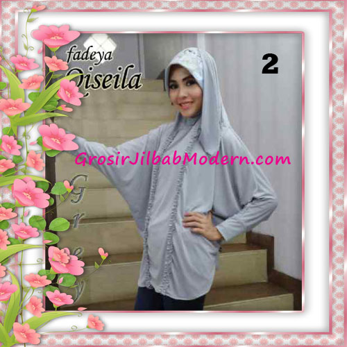 Jilbab Lengan Simple Modis Qiseila Original By Fadeya No 2 Grey