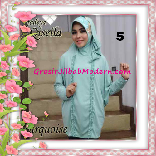 Jilbab Lengan Simple Modis Qiseila Original By Fadeya No 5 Turquoise