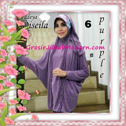 Jilbab Lengan Simple Modis Qiseila Original By Fadeya No 6 Purple