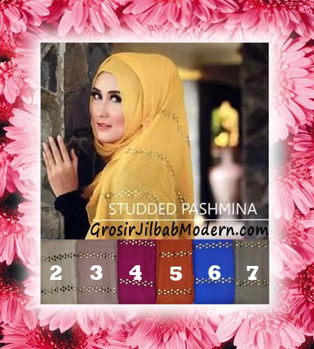 Jilbab Model Pashmina Studded Modis dan Trendy