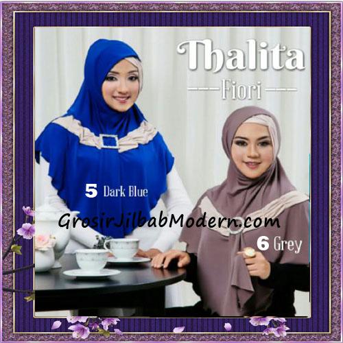 Jilbab Syria Instant Cantik Thalita Terbaru Original Fiori Design No 5, 6