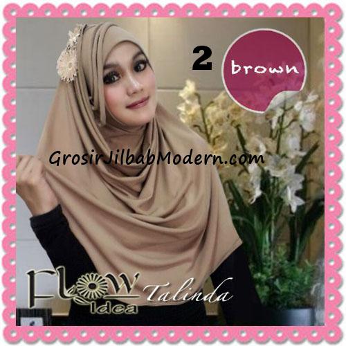 Jilbab Syria Pashmina Instant Cantik Terbaru Talinda by Flow Idea No 2 Brown