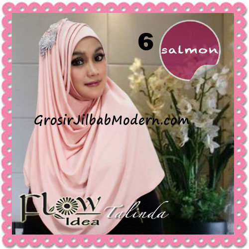 Jilbab Syria Pashmina Instant Cantik Terbaru Talinda by Flow Idea No 6 Salmon