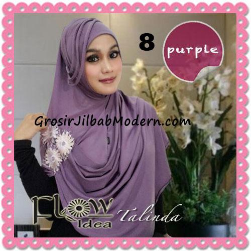 Jilbab Syria Pashmina Instant Cantik Terbaru Talinda by Flow Idea No 8 Purple