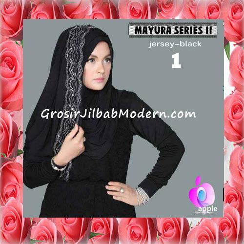Jilbab Trendy Pashmina Instant Mayyura Seri 2 Original By Apple Hijab Brand No 1 Black