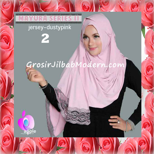 Jilbab Trendy Pashmina Instant Mayyura Seri 2 Original By Apple Hijab Brand No 2 Dusty Pink