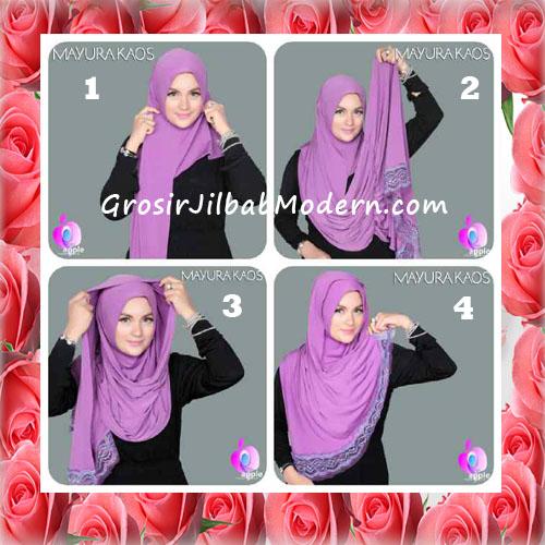 Jilbab Trendy Pashmina Instant Mayyura Seri 2 Original By Apple Hijab Brand - tutorial
