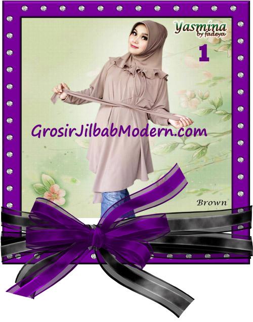 Jilbab Bergo Lengan Modis dan Cantik Yasmina Original By Fadeya No 1 Brown