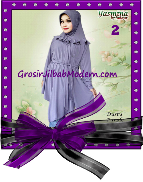 Jilbab Bergo Lengan Modis dan Cantik Yasmina Original By Fadeya No 2 Dusty Purple