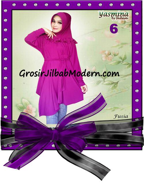 Jilbab Bergo Lengan Modis dan Cantik Yasmina Original By Fadeya No 6 Fusia