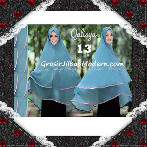 Jilbab Cerutti Jumbo Khimar Syar'i Taqiya Terbaru Original By Qalisya No 13