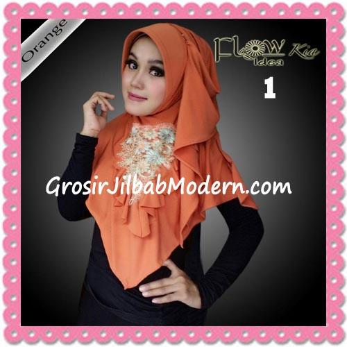 Jilbab Instant Cantik Syria Kia Original Flow Idea No 1 Orange