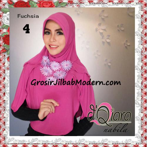 Jilbab Instant Modern Nabila Ala Artis Dian Sastro Original d'Qiara Brand No 4 Fuchsia