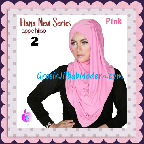 Jilbab Instant Simple Cantik Hana New Series Original By Apple Hijab Brand No 2 Pink
