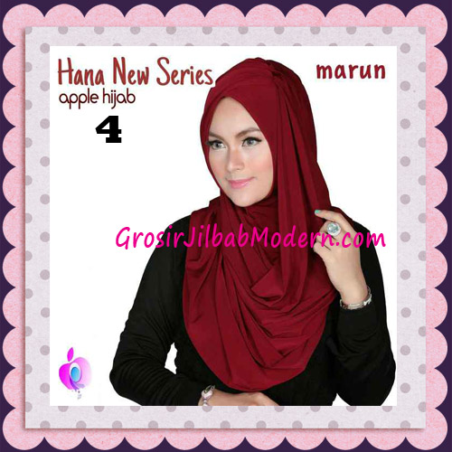 Jilbab Instant Simple Cantik Hana New Series Original By Apple Hijab Brand No 4 Marun