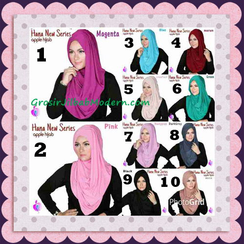 Jilbab Instant Simple Cantik Hana New Series Original By Apple Hijab Brand Series
