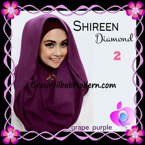 Jilbab Instant Terbaru Hoodie Shireen Diamond Seri 2 Original by Apple Hijab Brand No 2 Grape Purple