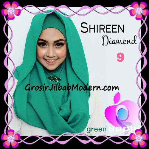 Jilbab Instant Terbaru Hoodie Shireen Diamond Seri 2 Original by Apple Hijab Brand No 9 Green