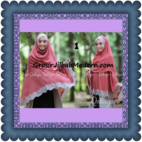 Jilbab Khimar Instant Jumbo Cerutti Faizia Ala Artis Lyra Virna Original by Qalisya No 1 Dusty Pink