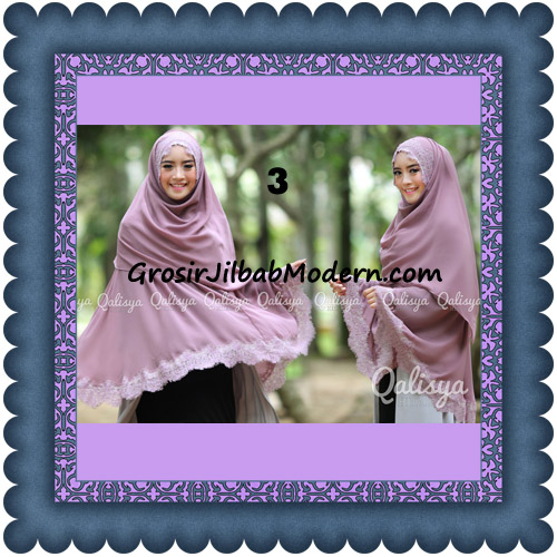 Jilbab Khimar Instant Jumbo Cerutti Faizia Ala Artis Lyra Virna Original by Qalisya No 3 Lavender