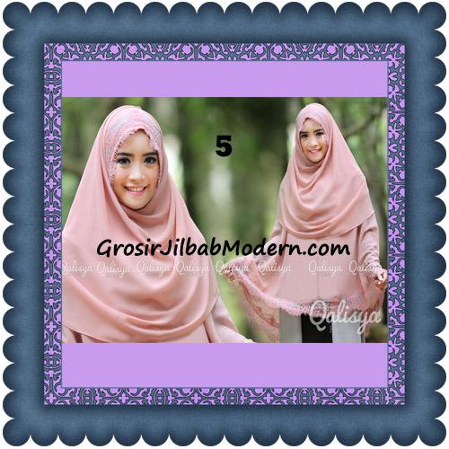 Jilbab Khimar Instant Jumbo Cerutti Faizia Ala Artis Lyra Virna Original by Qalisya No 5 Baby Dusty Pink