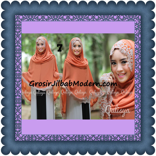 Jilbab Khimar Instant Jumbo Cerutti Faizia Ala Artis Lyra Virna Original by Qalisya No 7 Oren Bata