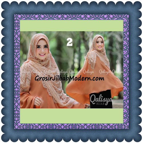 Jilbab Khimar Syar'i Elegan Halwa Brukat Seri 2 Trendy By Qasilya Brand No 2 Bata Muda