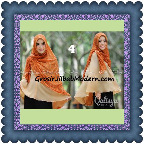 Jilbab Khimar Syar'i Elegan Halwa Brukat Seri 2 Trendy By Qasilya Brand No 4 Baby Orange