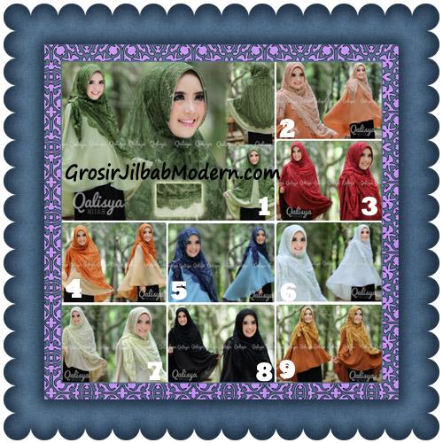 Jilbab Khimar Syar'i Elegan Halwa Brukat Seri 2 Trendy By Qasilya Brand Series