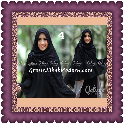 Jilbab Khimar Syar'i Halwa Brukat Modis Trendy By Qasilya Brand No 4 Hitam