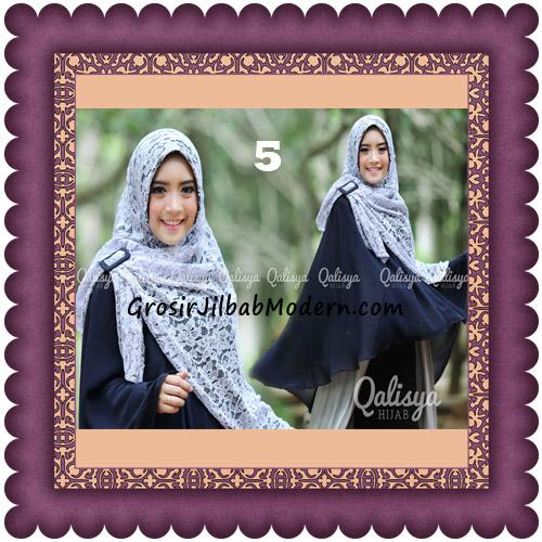 Jilbab Khimar Syar'i Halwa Brukat Modis Trendy By Qasilya Brand No 5 Navy