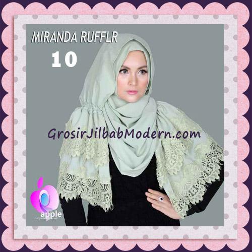 Jilbab Pashmina Instant Unik dan Cantik Premium Miranda Ruffle Original By Apple Hijab Brand No 10 Telur Asin