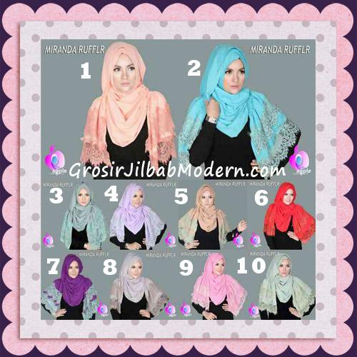 Jilbab Pashmina Instant Unik dan Cantik Premium Miranda Ruffle Original By Apple Hijab Brand Series
